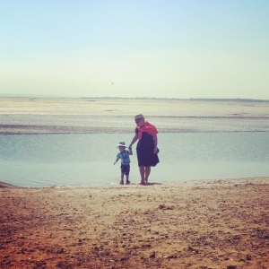Beach-combing with nanny